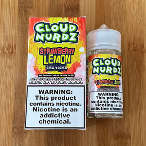 cloud nurdz eliquid strawberry lemon 100ml 06