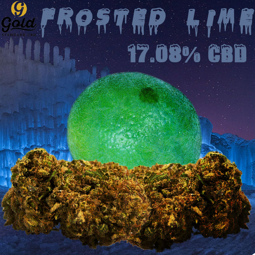 Frosted lime hemp flower 7g