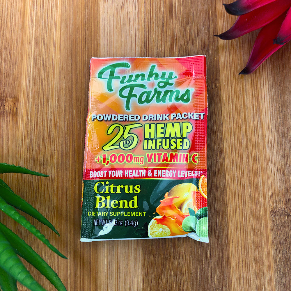 funky farms cbd drink packet