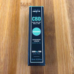 ignite cbd roll on recharge rosemary lemon 1000mg