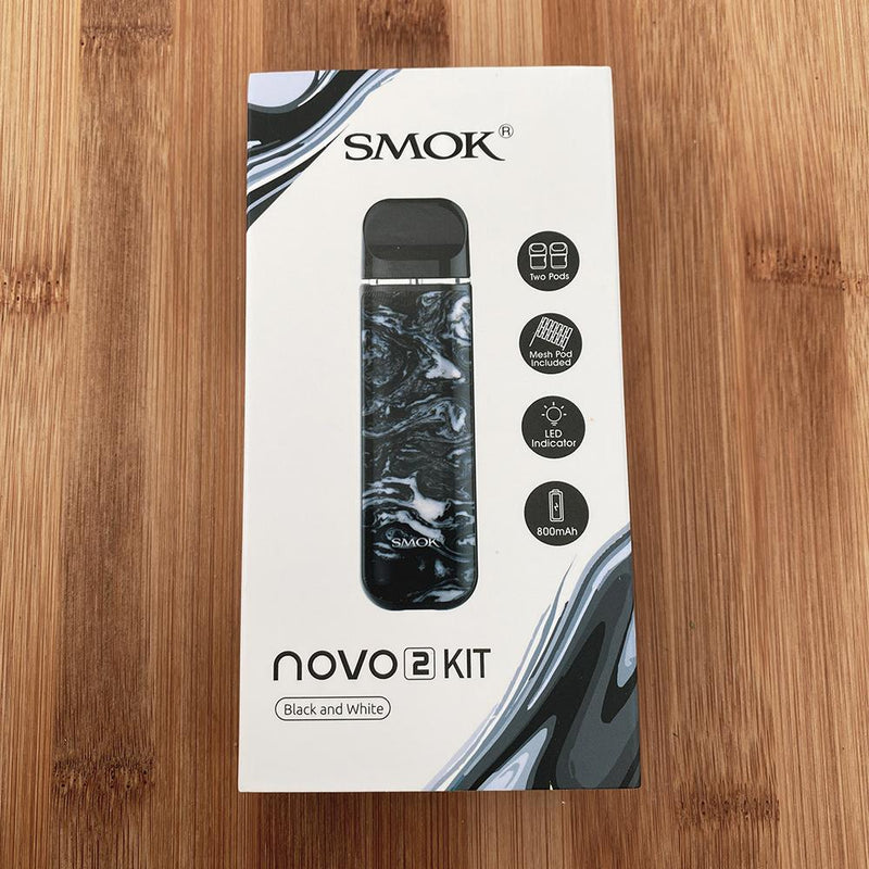 smok novo 2 pod device black and white box