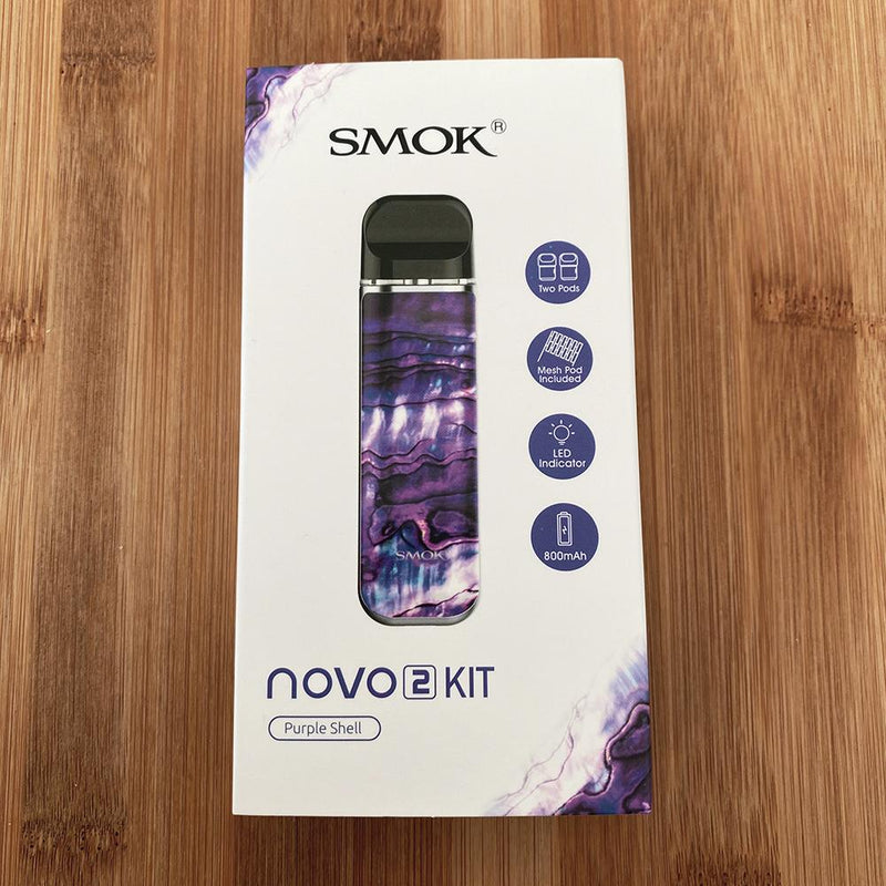 smok novo 2 pod device purple shell