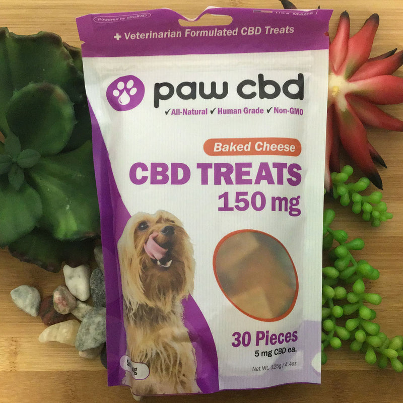 paw cbd baked cheese treats 150mg