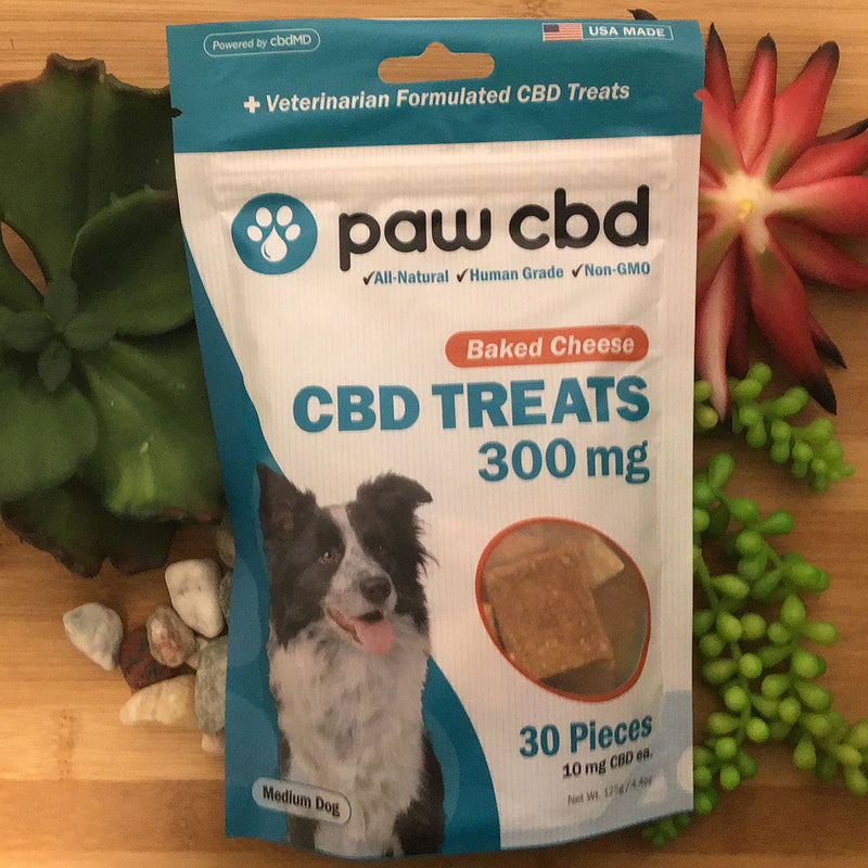 paw cbd baked cheese treats 300mg