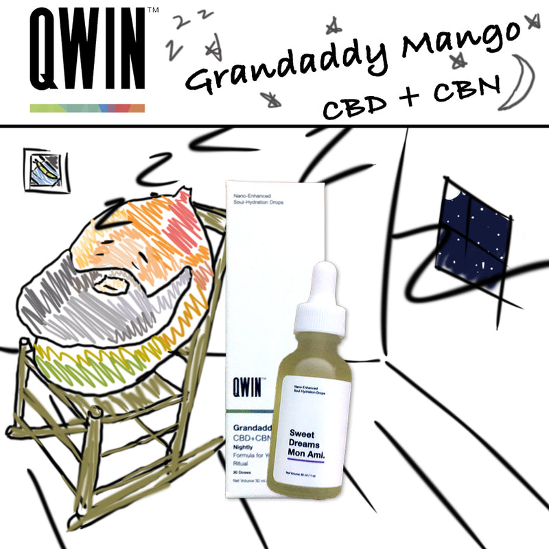 qwin granddaddy mango cbn tincture 1050mg