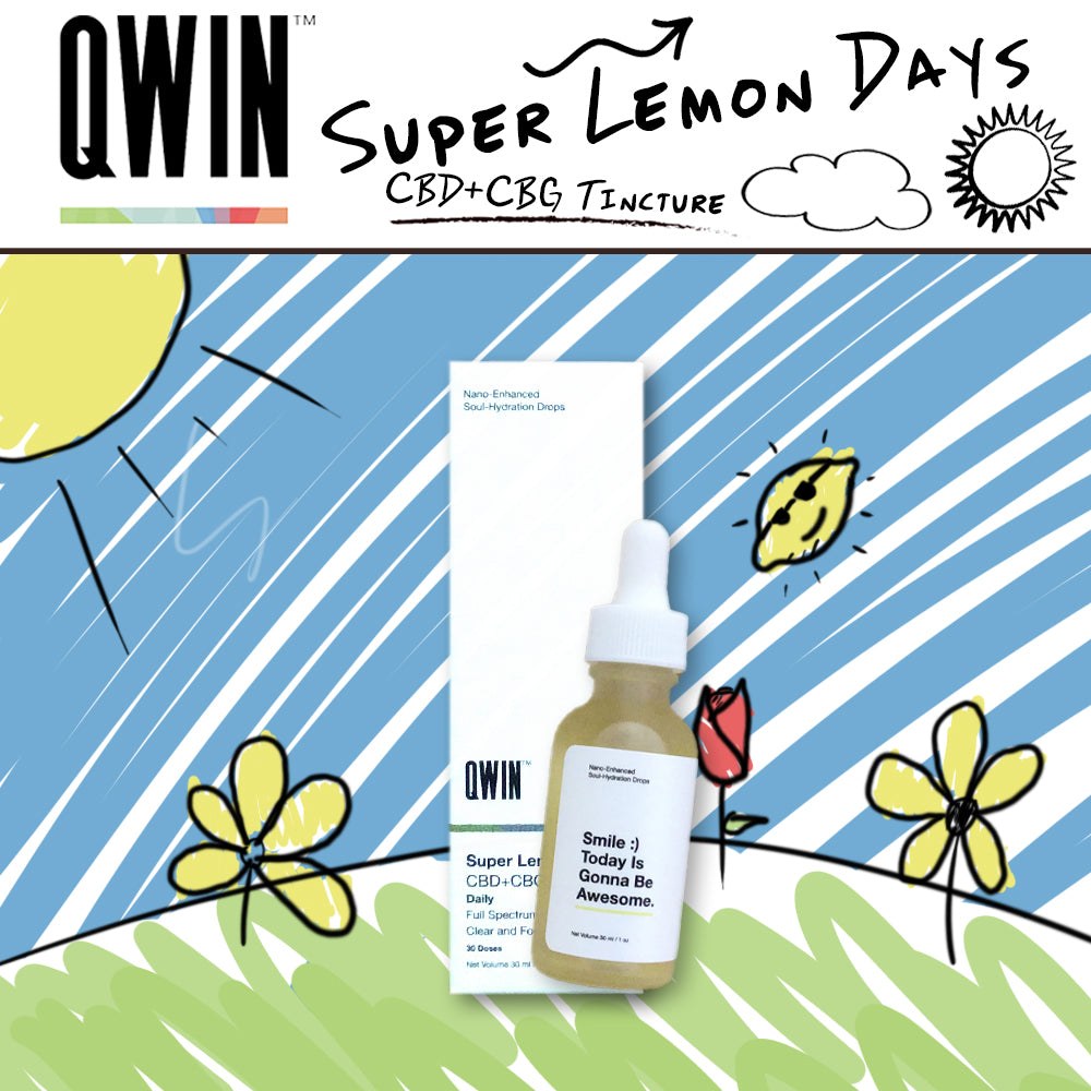 qwin super lemon days cbg tincture 1100mg