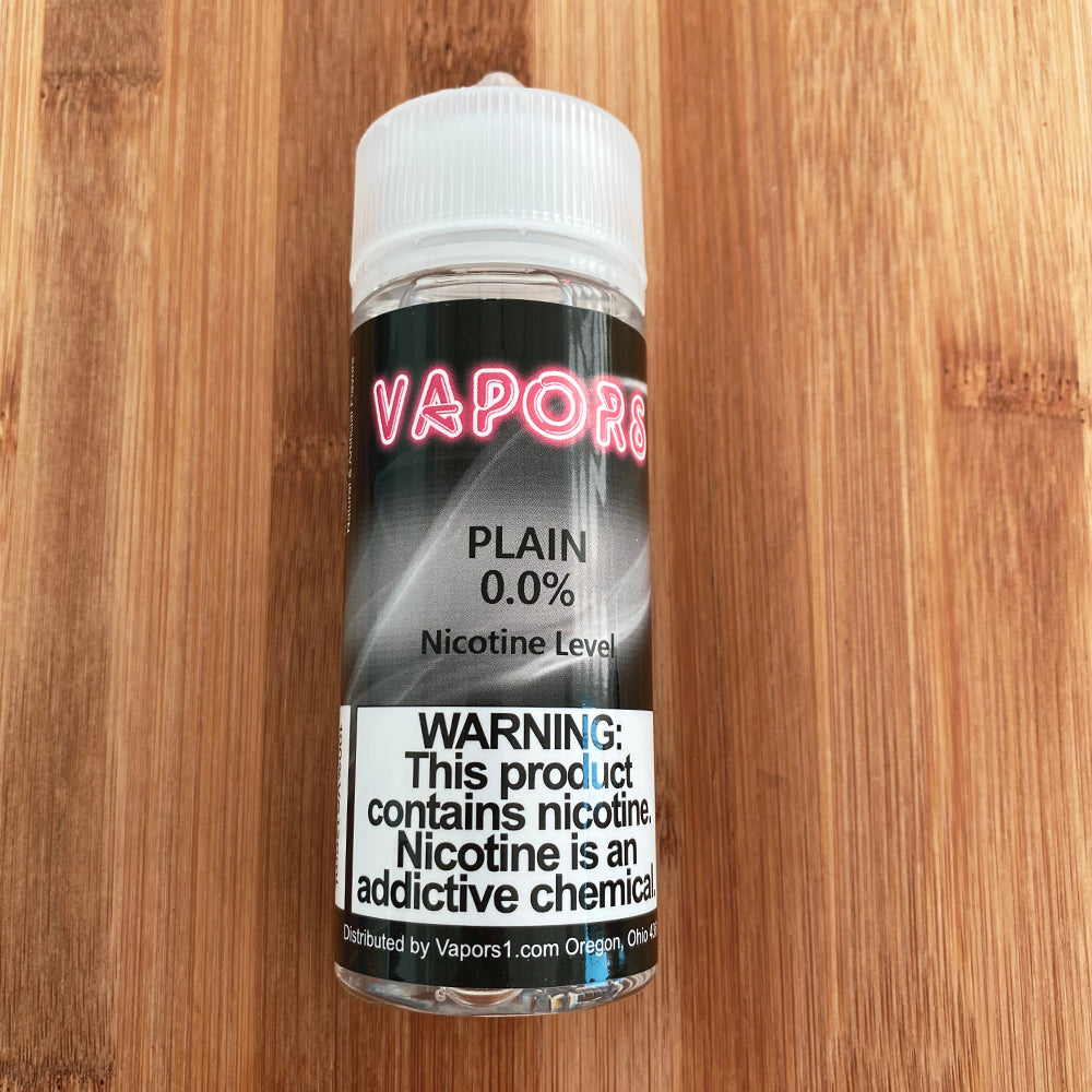 vapors 120ml plain eliquid