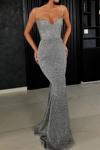 Sexy Sling Fishtail Maxi Evening Dress
