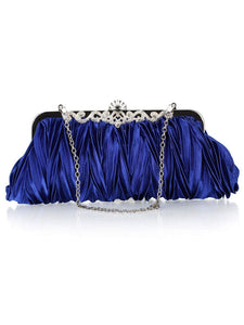 Pleats Design Evening Clutch Bag