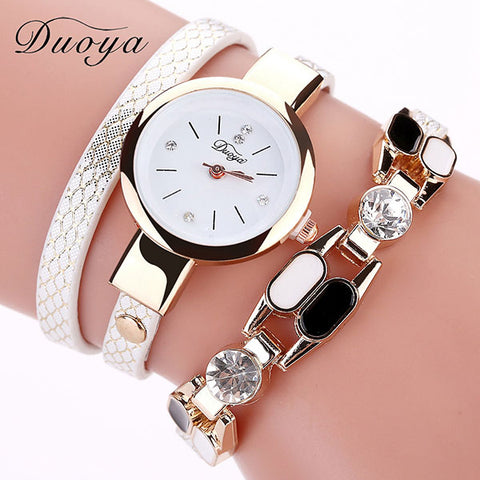 Female bracelet watch sexy snake pattern PU leather ladies fashion watch