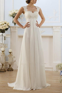 Sexy Elegant White Sleeveless Evening Dress