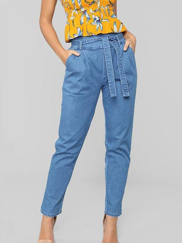 Fashion Denim Jeans Casual Pants