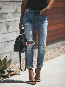 Vintage High Waist Ripped Jeans