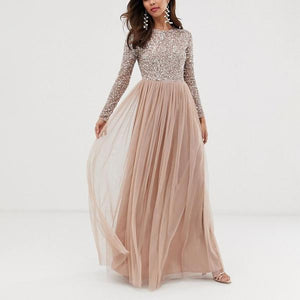 Sequined Stitching Dress Dress