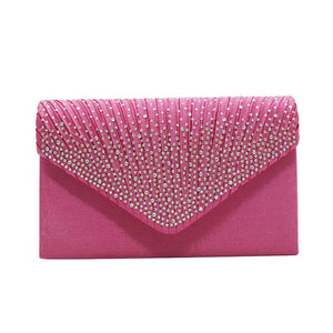 Women's European And American Fashion Rhinestone Silk Chain Dinner Clutch Bags