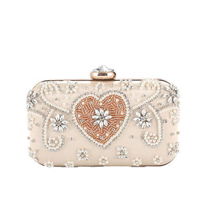 Women's European And American Fashion Pearl Embroidery Dinner Bag
