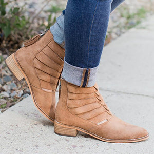 Women's European And American Fashion Personality Solid Color Tassel Ankle Boots