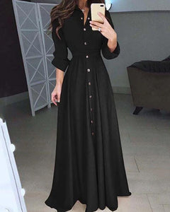 Casual Slim Long Sleeve Maxi Dresses