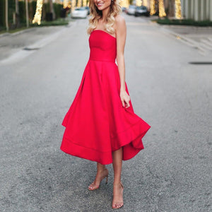 Sexy Red Sleeveless Skater Dress Evening Dress