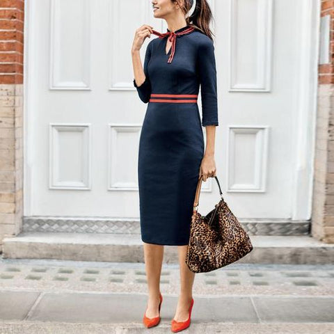 Autumn And Winter Commuter Wind Suit Bag Hip Skirt Bodycon Dress