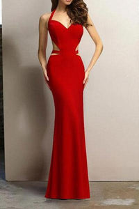 New Hanging Neck Evening Dress