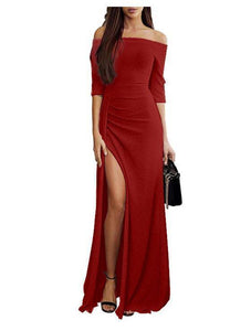 Sexy Split One Collar Evening Dress