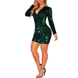 Fashion Sexy Sequin Evening Dress