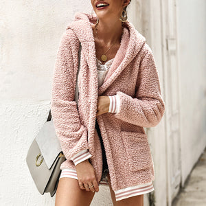 Casual Long Coat Hooded Fur Coat