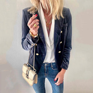 Autumn And Winter   Fashion Suede Suit Jacket