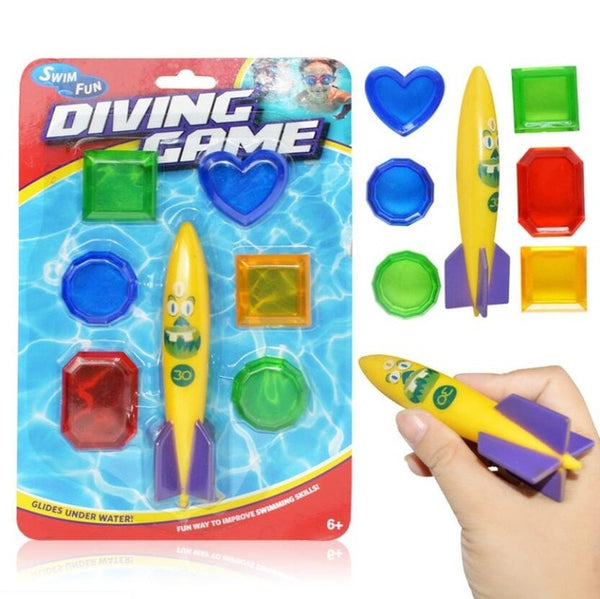 Underwater Swim Pool Diving Toys Summer Swimming Dive Toy Sets Water Rings,Sticks,Octopus,Torpedo Bandits,Fish & Balls