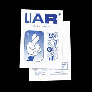"""LIARS"" Zine. Blue issue"