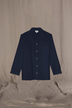 SHIRT Colour & Piping       100%ᴾᵁᴿᴱ COTTON herringbone-light       NAVY       Aristocratic 1950s contemporary