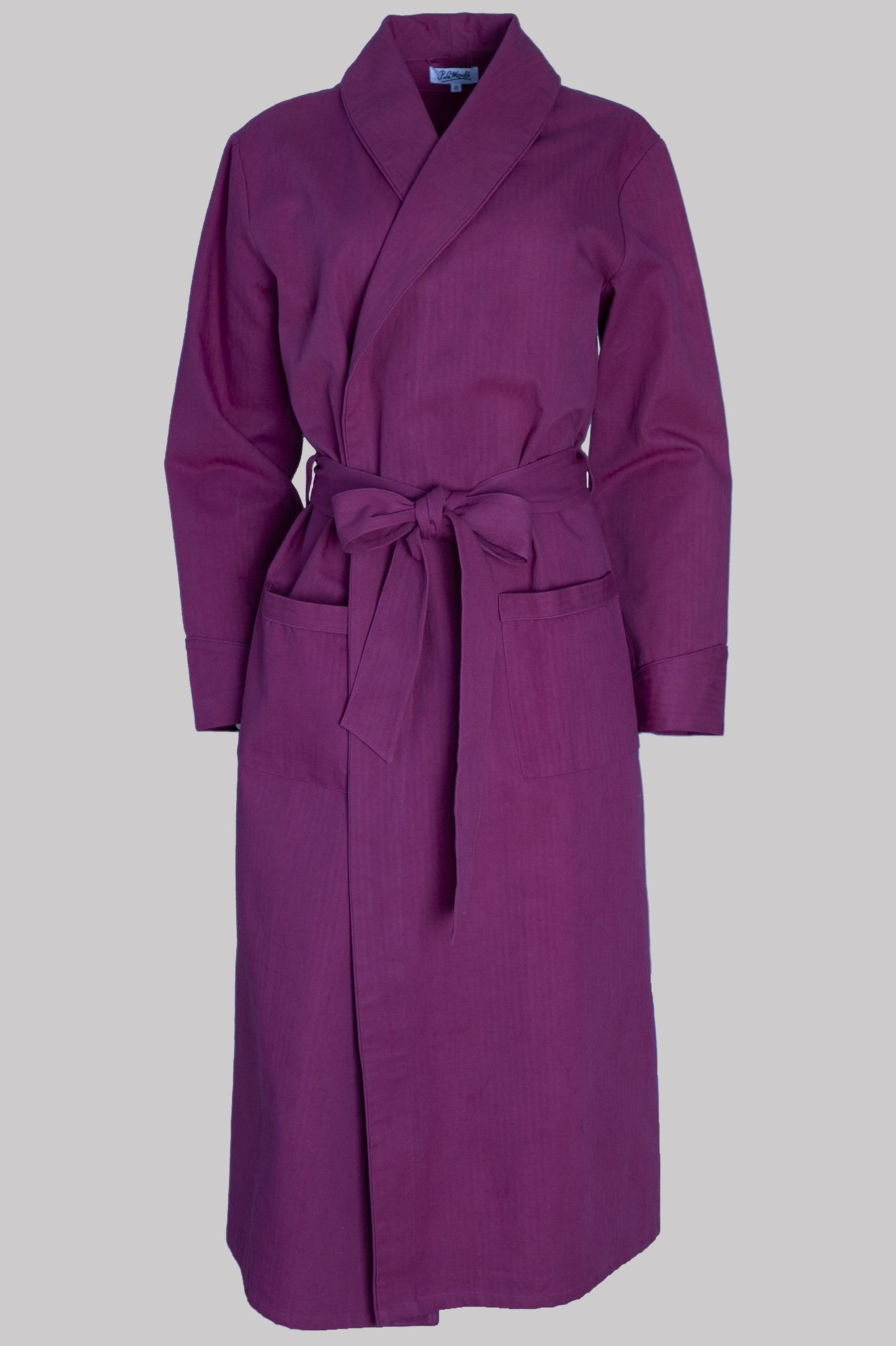 8631 DRESSING-GOWN Colour & Piping       100%ᴾᵁᴿᴱ COTTON Herringbone-THICK       BURGUNDY       Paris 1924 Olympics
