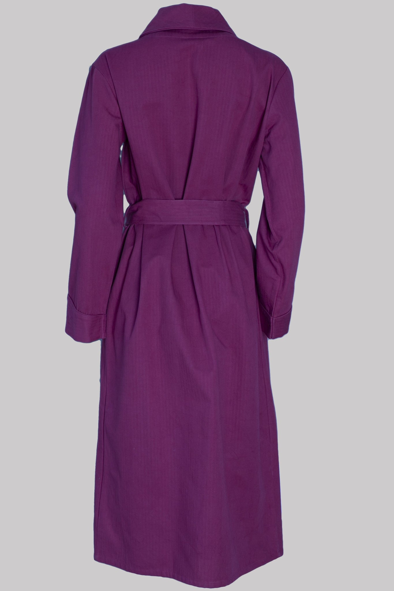 8631 DRESSING-GOWN Cotton BURGUNDY