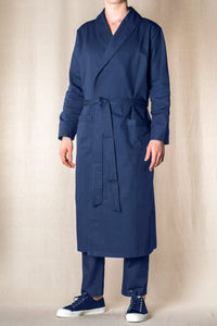 please buy this at : 357 / MATCHES FASHION : DRESSING-GOWN Colour & Piping       100%ᴾᵁᴿᴱ COTTON herringbone-thick       NAVY       Paris 1924 Olympics