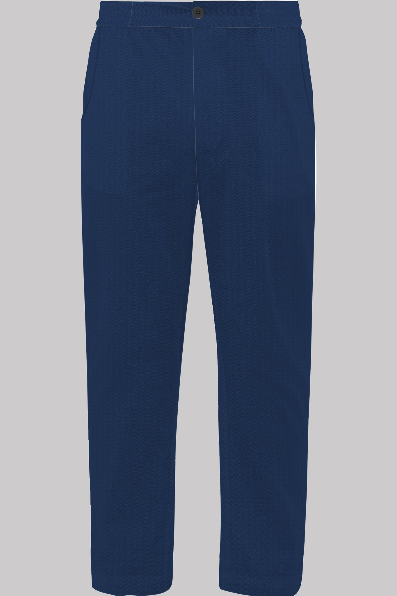 8636 BUTTON-TROUSERS Colour & Piping       100%ᴾᵁᴿᴱ COTTON Herringbone-THICK       NAVY       French Alps 1934
