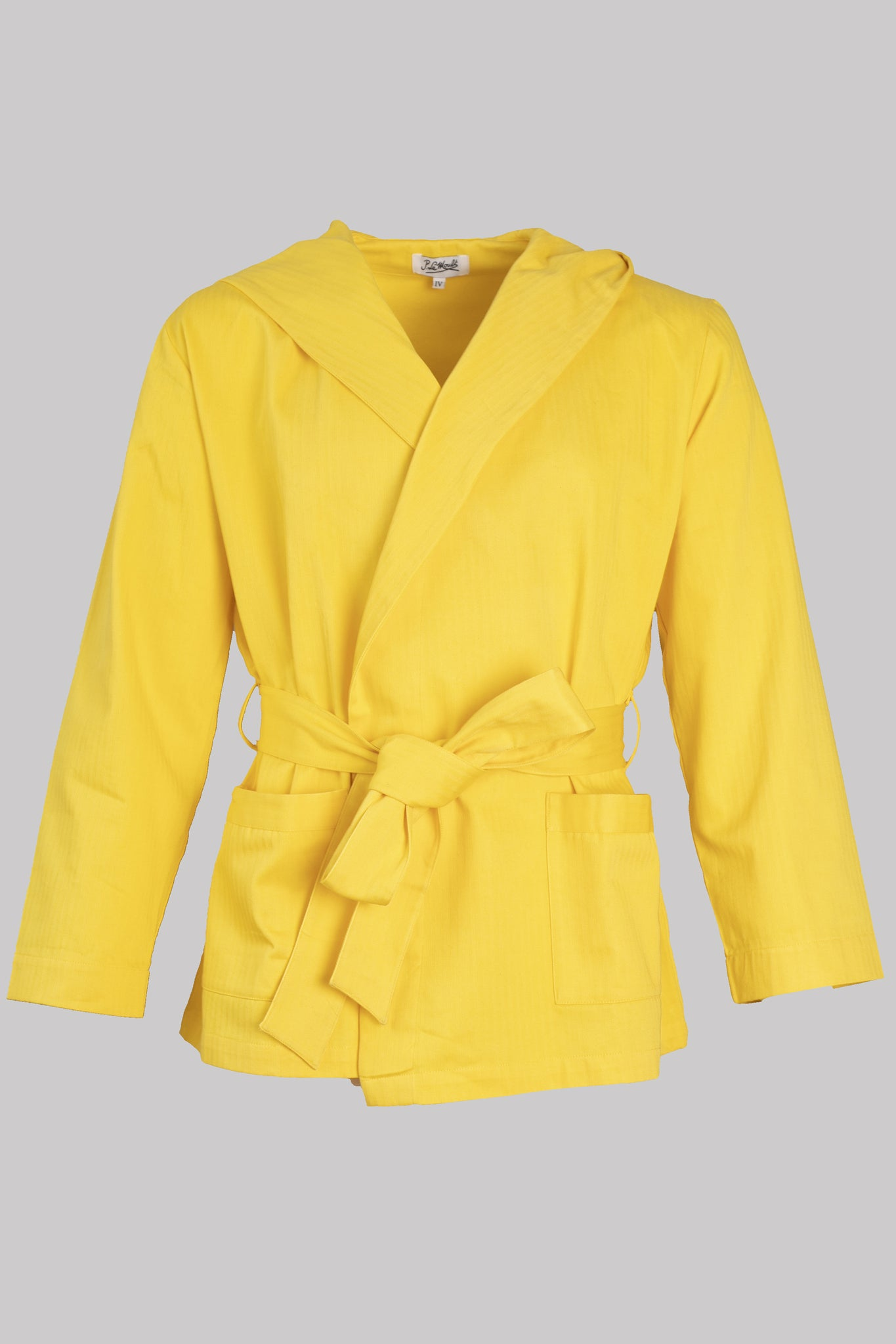 8716 HOODY-JACKET Colour       100%ᴾᵁᴿᴱ COTTON Herringbone-THICK       YELLOW       Bretagne 1934 beach resort
