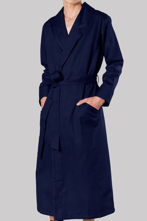 8727 DECK-GOWN Colour & Tape       100%ᴾᵁᴿᴱ COTTON Herringbone-THICK       NAVY       Bretagne 1934 beach resort