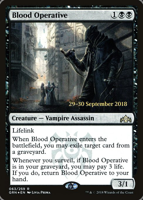 Blood Operative [Guilds of Ravnica Promos]
