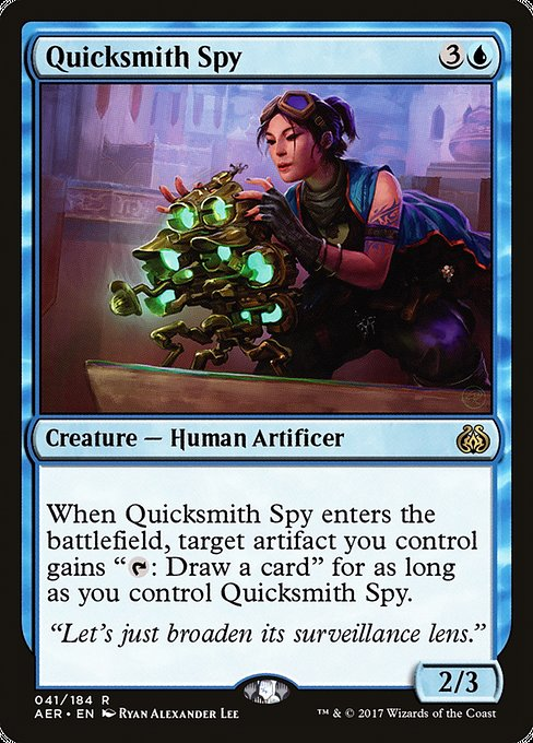 Quicksmith Spy [Aether Revolt] | Emerald Dragon Games