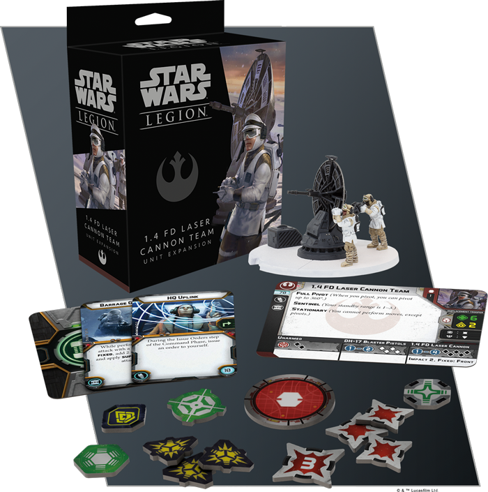 Star Wars: Legion - 1.4 FD Laser Cannon Team Unit Expansion | Emerald Dragon Games