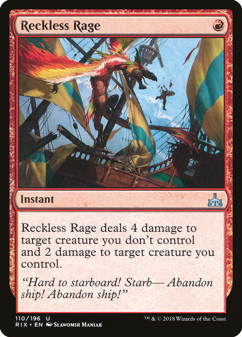 Reckless Rage [Rivals of Ixalan] | Emerald Dragon Games