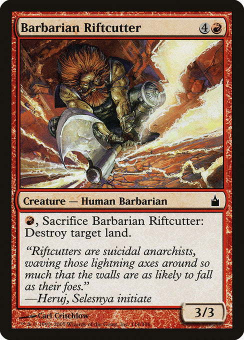 Barbarian Riftcutter [Ravnica: City of Guilds]