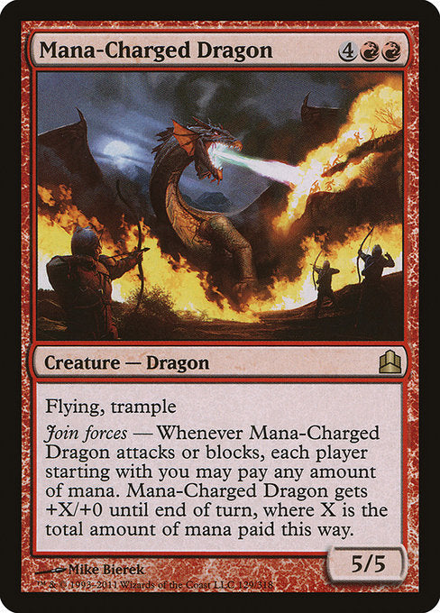 Mana-Charged Dragon [Commander 2011] | Emerald Dragon Games