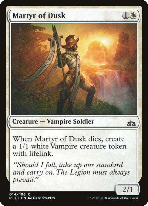 Martyr of Dusk [Rivals of Ixalan] | Emerald Dragon Games