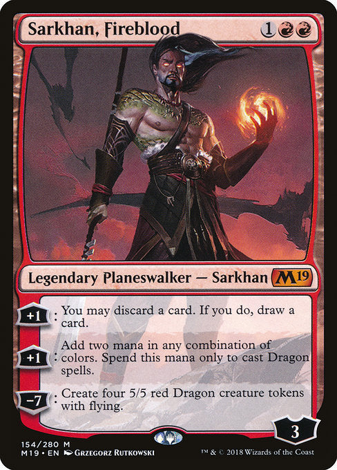 Sarkhan, Fireblood [Core Set 2019] | Emerald Dragon Games