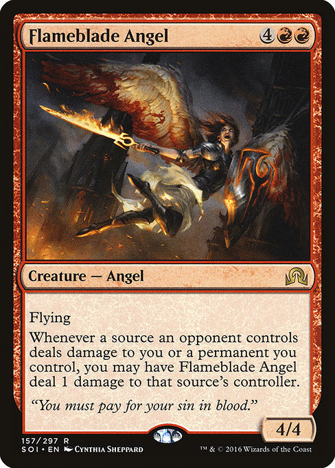 Flameblade Angel [Shadows over Innistrad] | Emerald Dragon Games