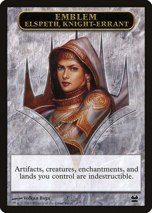 Elspeth, Knight-Errant Emblem [Modern Masters Tokens] | Emerald Dragon Games