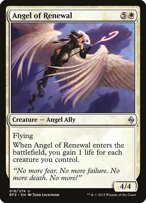 Angel of Renewal [Battle for Zendikar] | Emerald Dragon Games