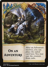On An Adventure // Spirit Double-sided Token (Challenger 2020) [Unique and Miscellaneous Promos] | Emerald Dragon Games